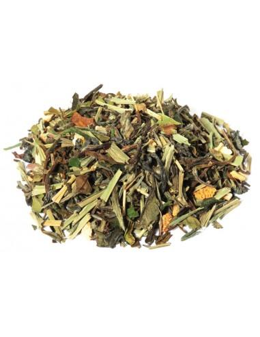 Natural ginger-lemon white tea