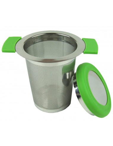 Stainless steel inf teaser with green lid